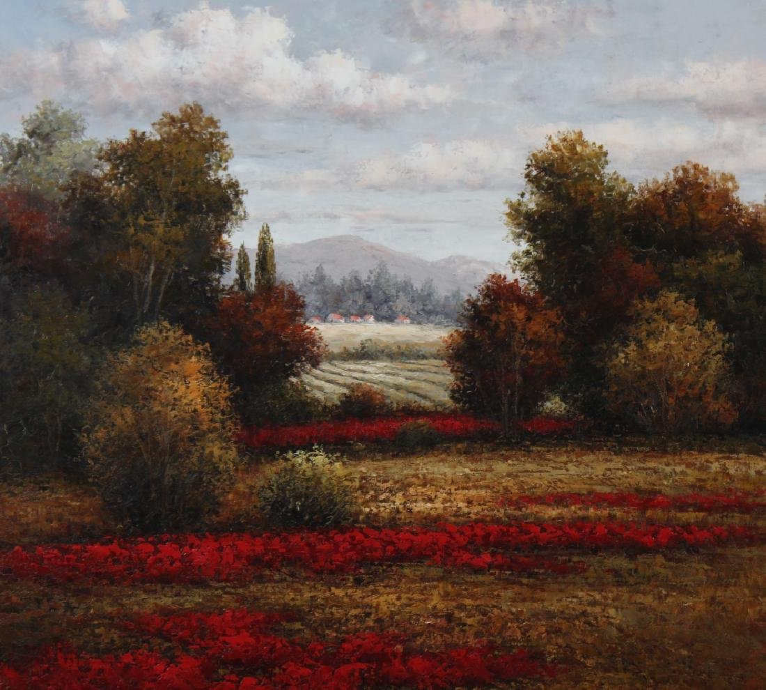 Signed K Paul American Floral Art Landscape Painting - 3