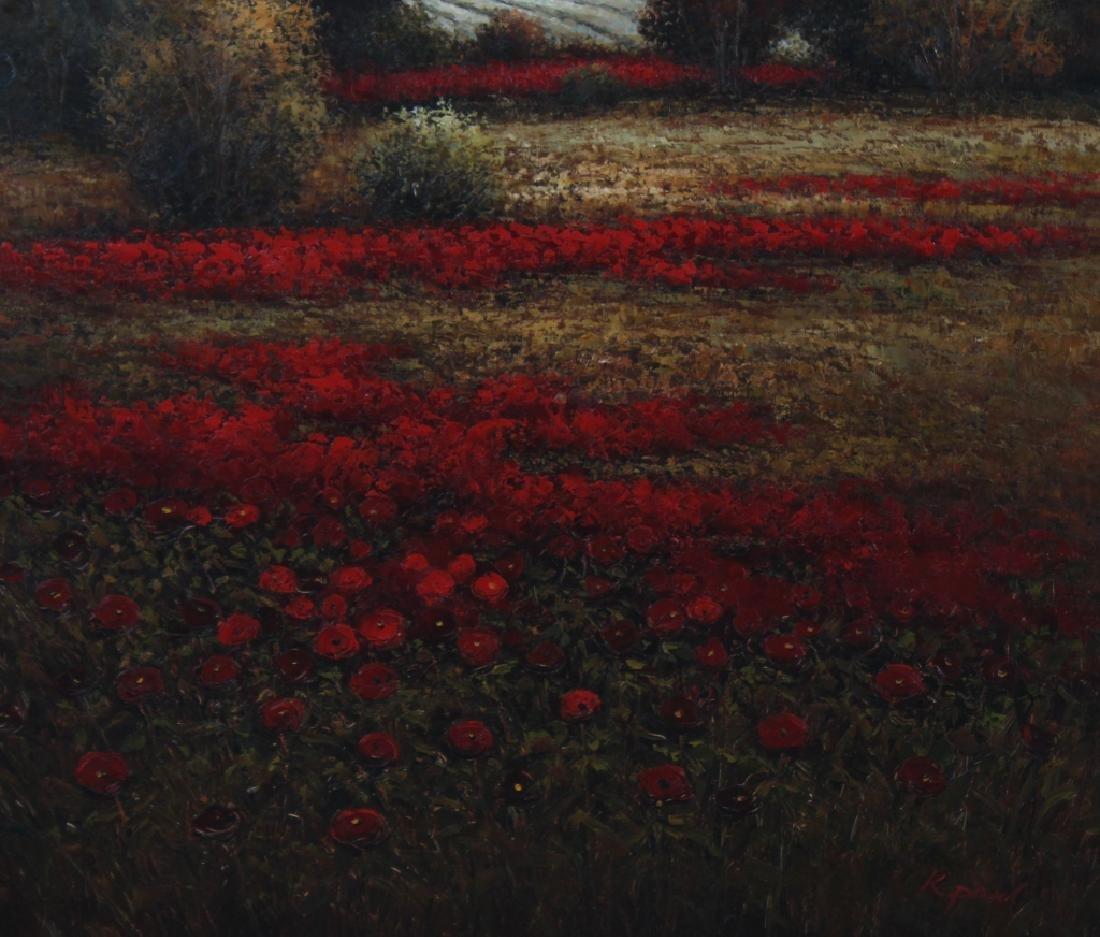 Signed K Paul American Floral Art Landscape Painting - 4
