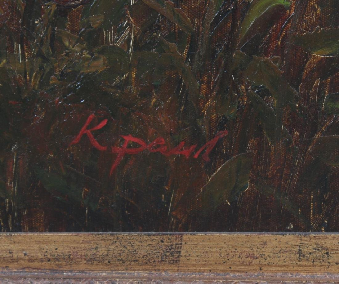 Signed K Paul American Floral Art Landscape Painting - 5