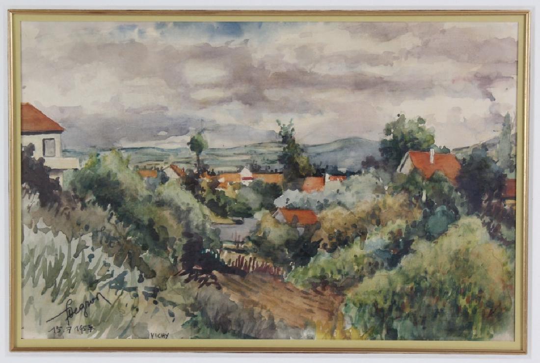 Eugène Villon 1879-1951 French Landscape Art Painting