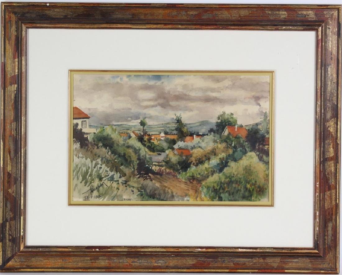 Eugène Villon 1879-1951 French Landscape Art Painting - 2