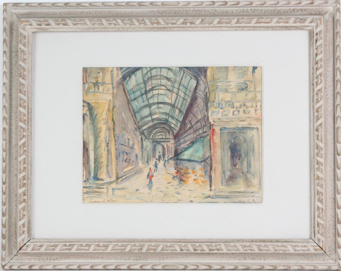 BETTY KATHE American Watercolor Art of Milan Painting - 2