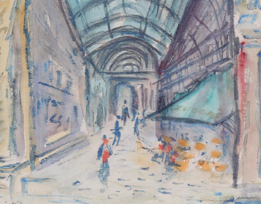 BETTY KATHE American Watercolor Art of Milan Painting - 3