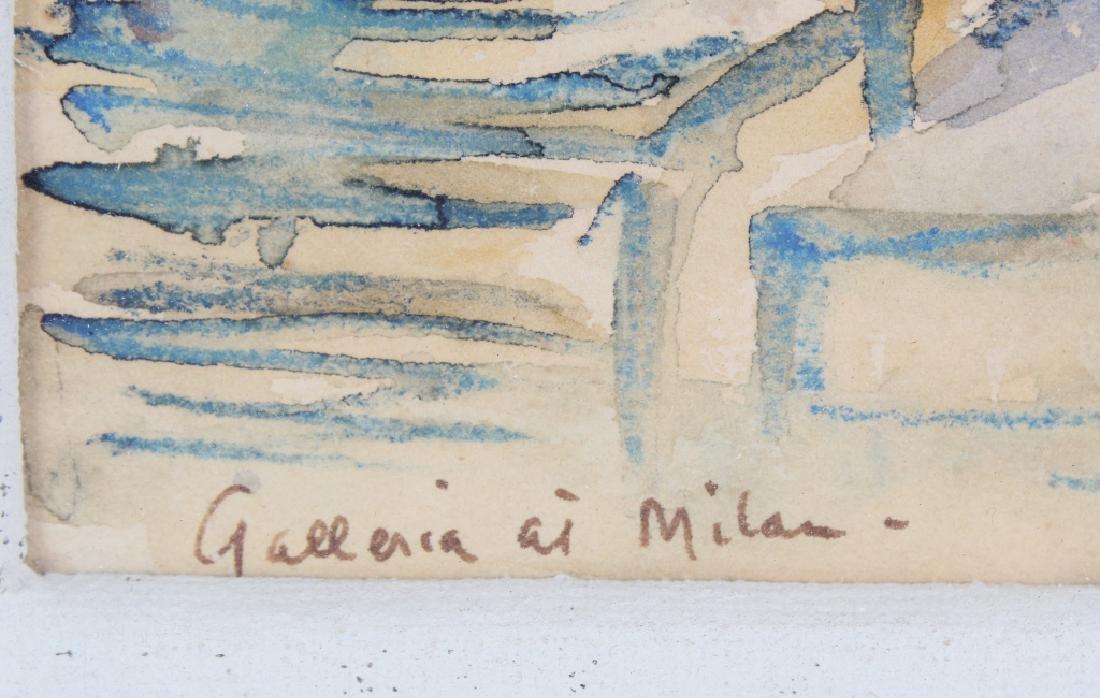BETTY KATHE American Watercolor Art of Milan Painting - 4