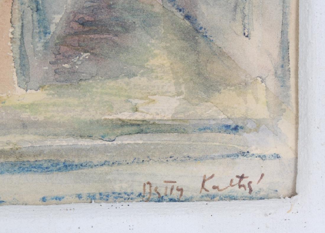 BETTY KATHE American Watercolor Art of Milan Painting - 5
