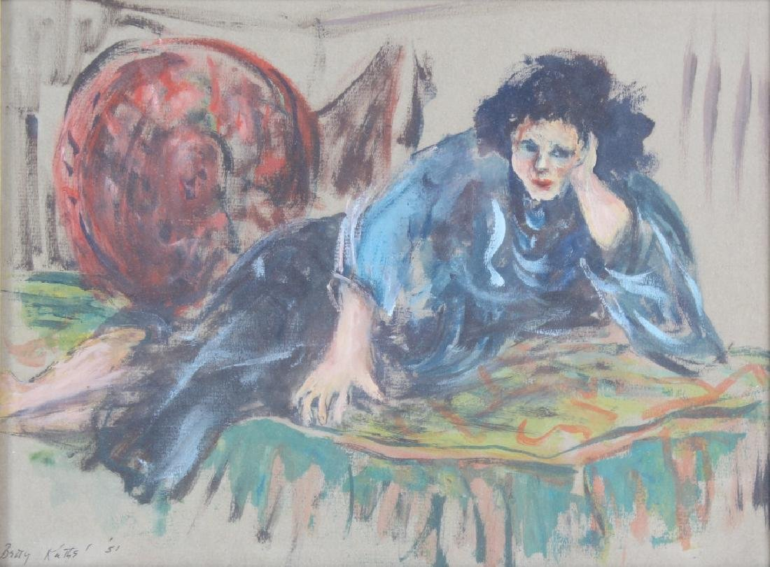 BETTY KATHE American Female Watercolor Art Painting
