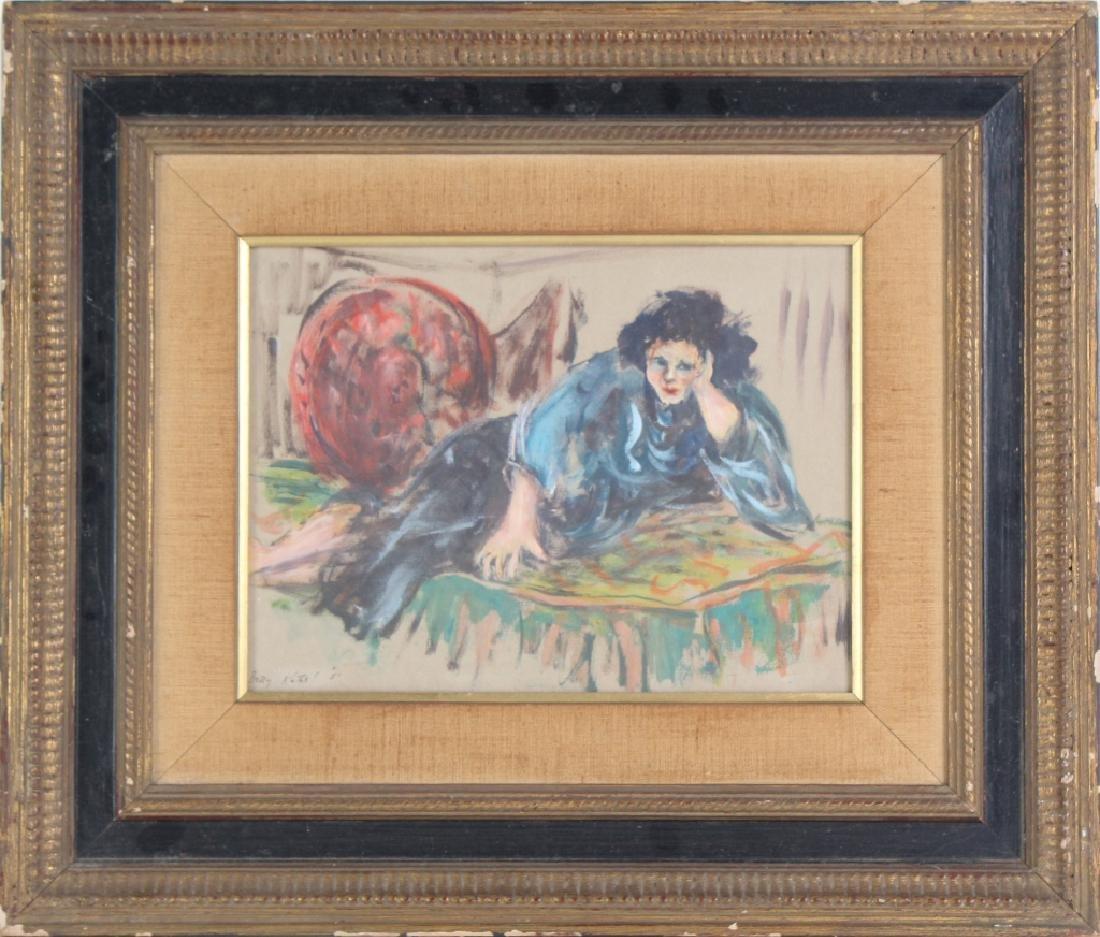 BETTY KATHE American Female Watercolor Art Painting - 2