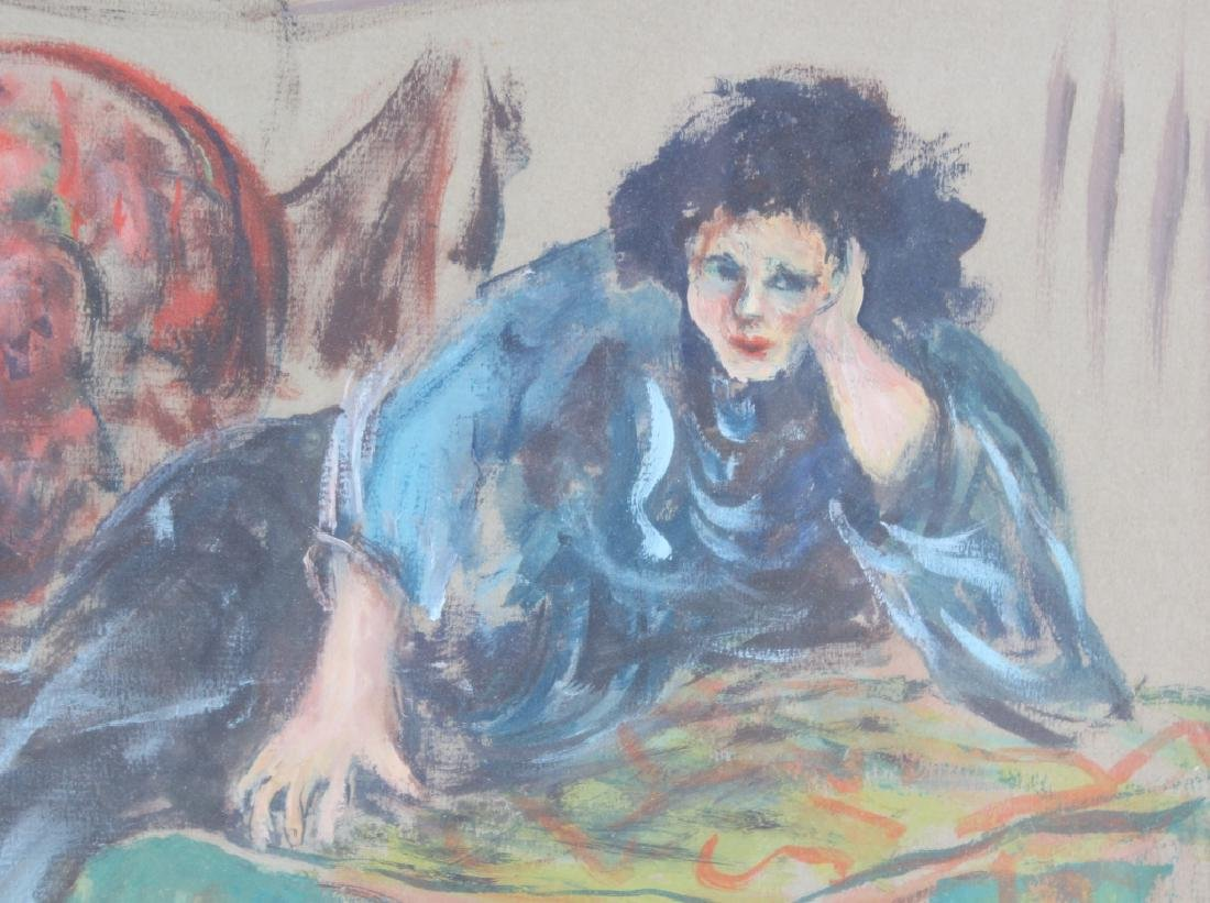 BETTY KATHE American Female Watercolor Art Painting - 3