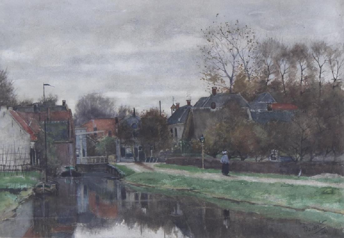 Nicolaas Bastert Dutch Landscape Art Painting c.1881