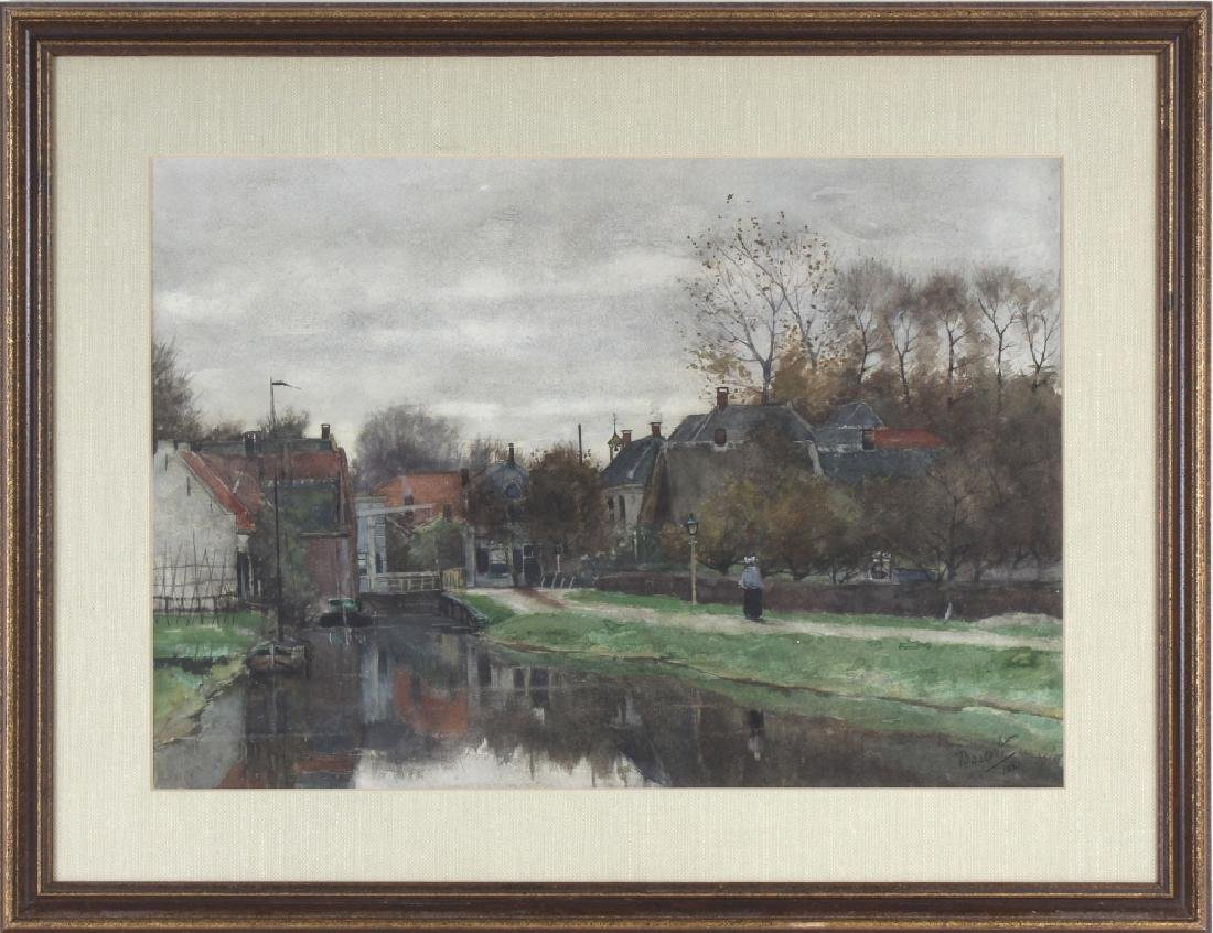 Nicolaas Bastert Dutch Landscape Art Painting c.1881 - 2