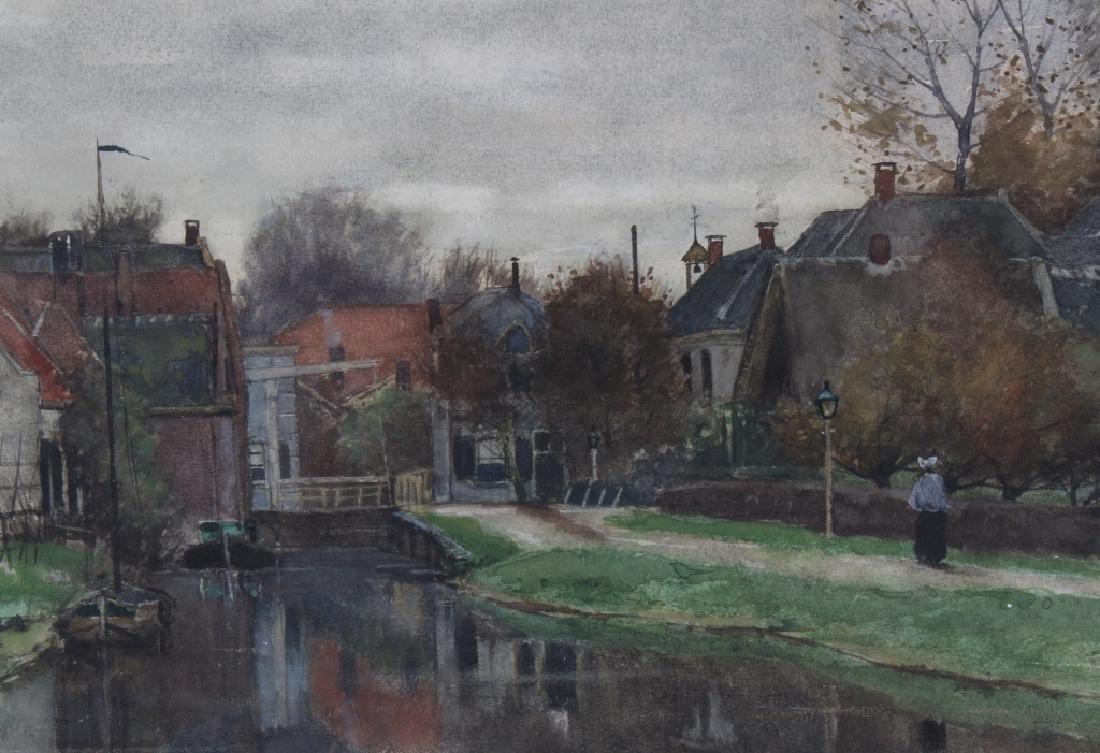 Nicolaas Bastert Dutch Landscape Art Painting c.1881 - 3