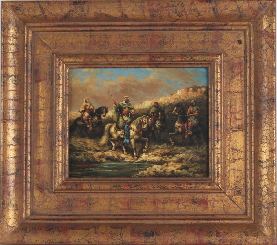 "Hopkins Orientalist Art ""Arabian Knights"" Oil Painting - 2"