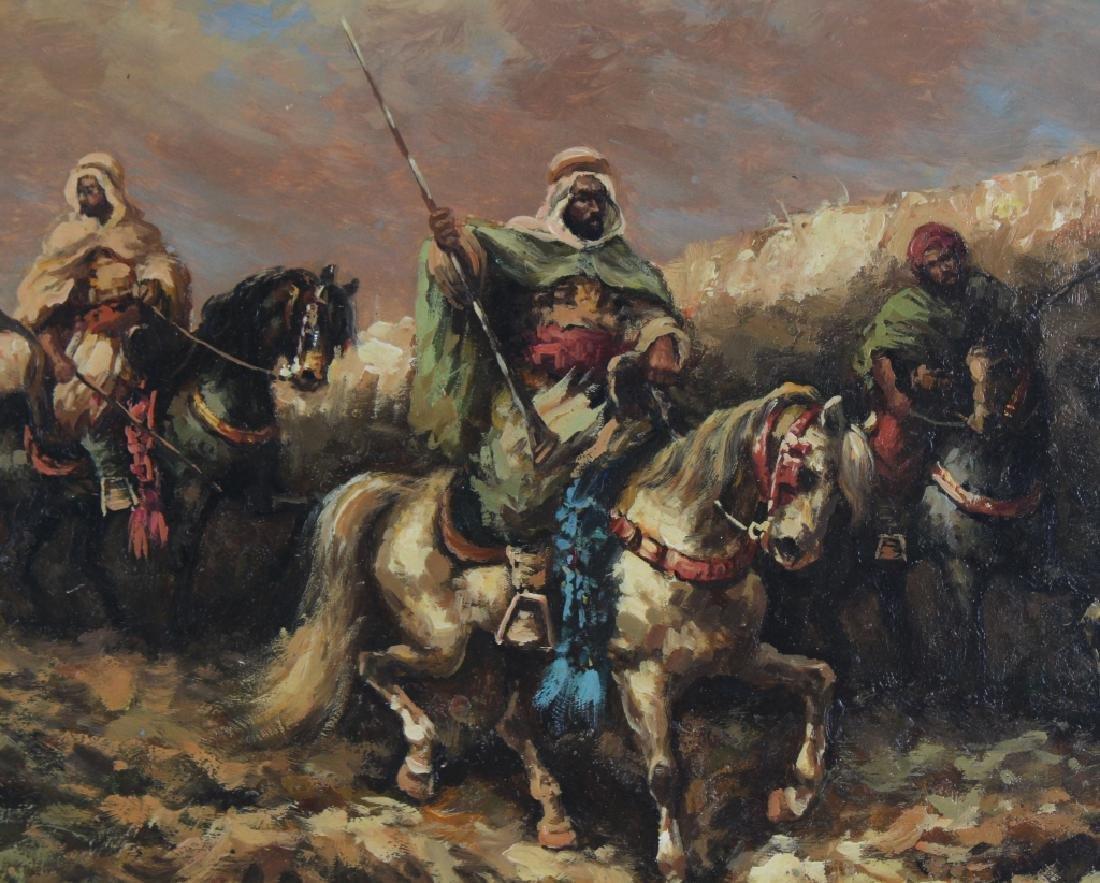 "Hopkins Orientalist Art ""Arabian Knights"" Oil Painting - 3"