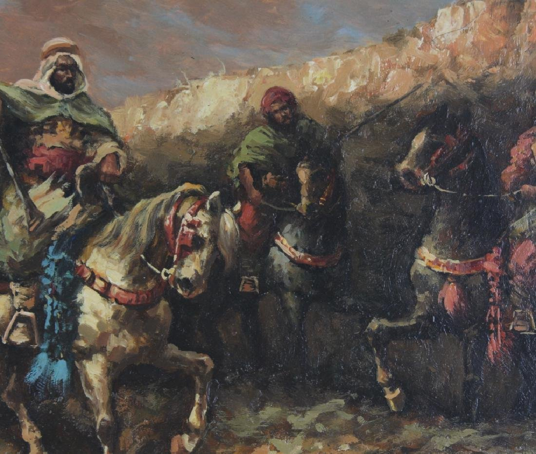 "Hopkins Orientalist Art ""Arabian Knights"" Oil Painting - 4"