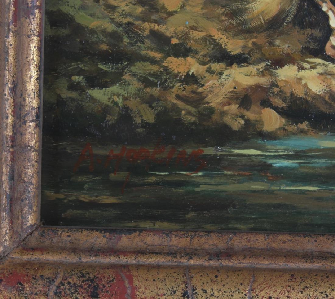 "Hopkins Orientalist Art ""Arabian Knights"" Oil Painting - 5"
