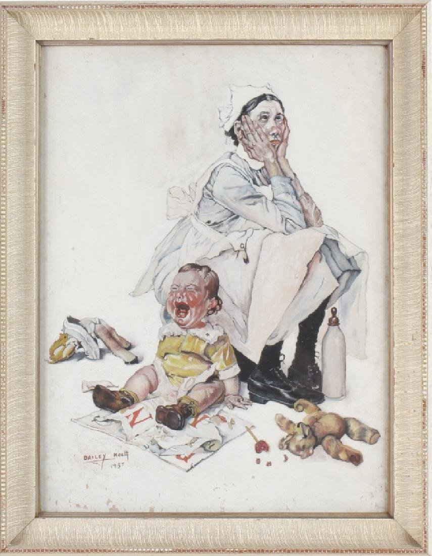 Bailey Koch American Norman Rockwell Art Painting - 2