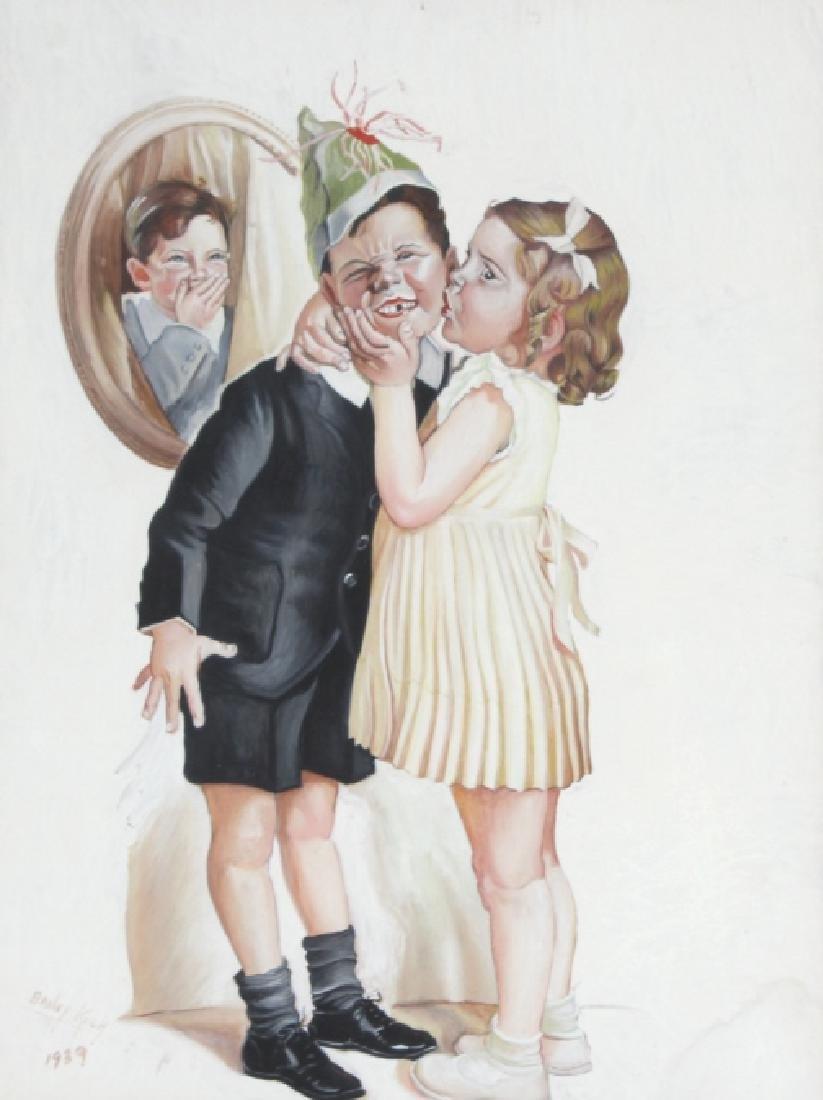 Bailey Koch American Norman Rockwell Art Painting