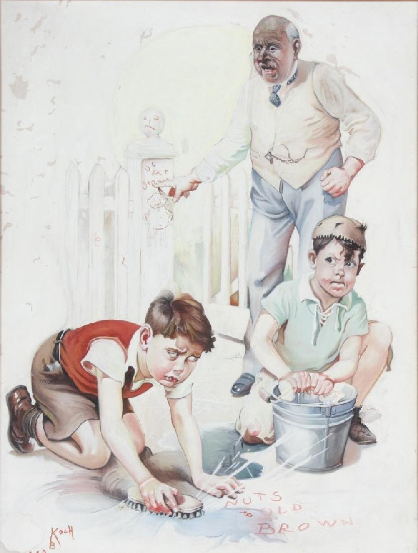 Bailey Koch American Norman Rockwell Art Painting