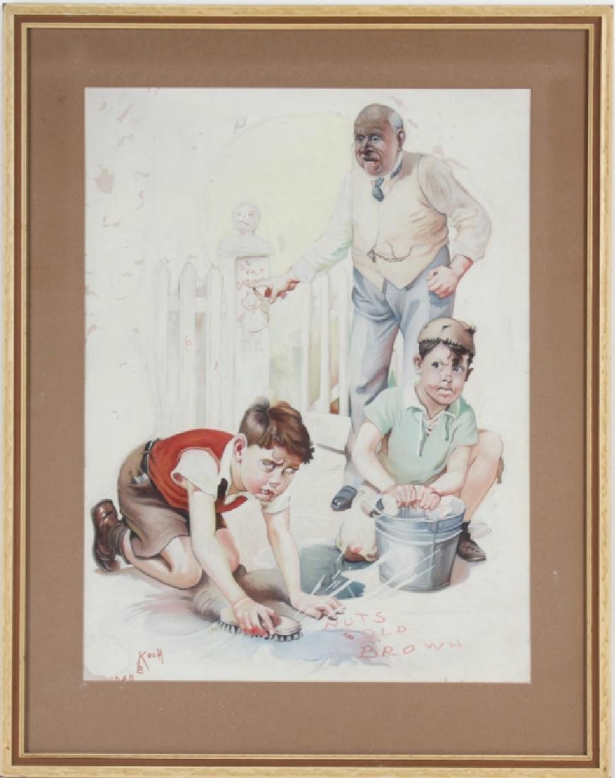 Bailey Koch American Norman Rockwell Art Painting - 2