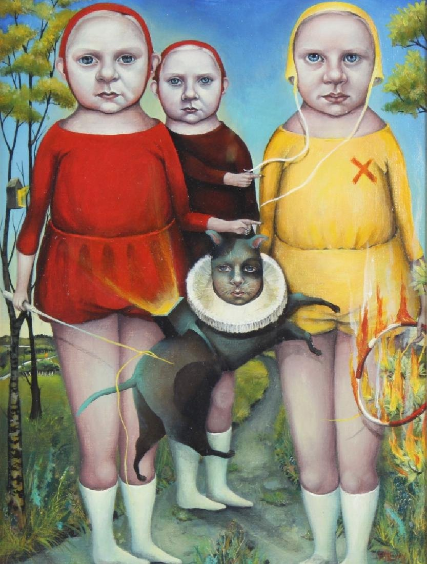 Heather Nevay Surrealist Art Oil Painting ORIGINAL