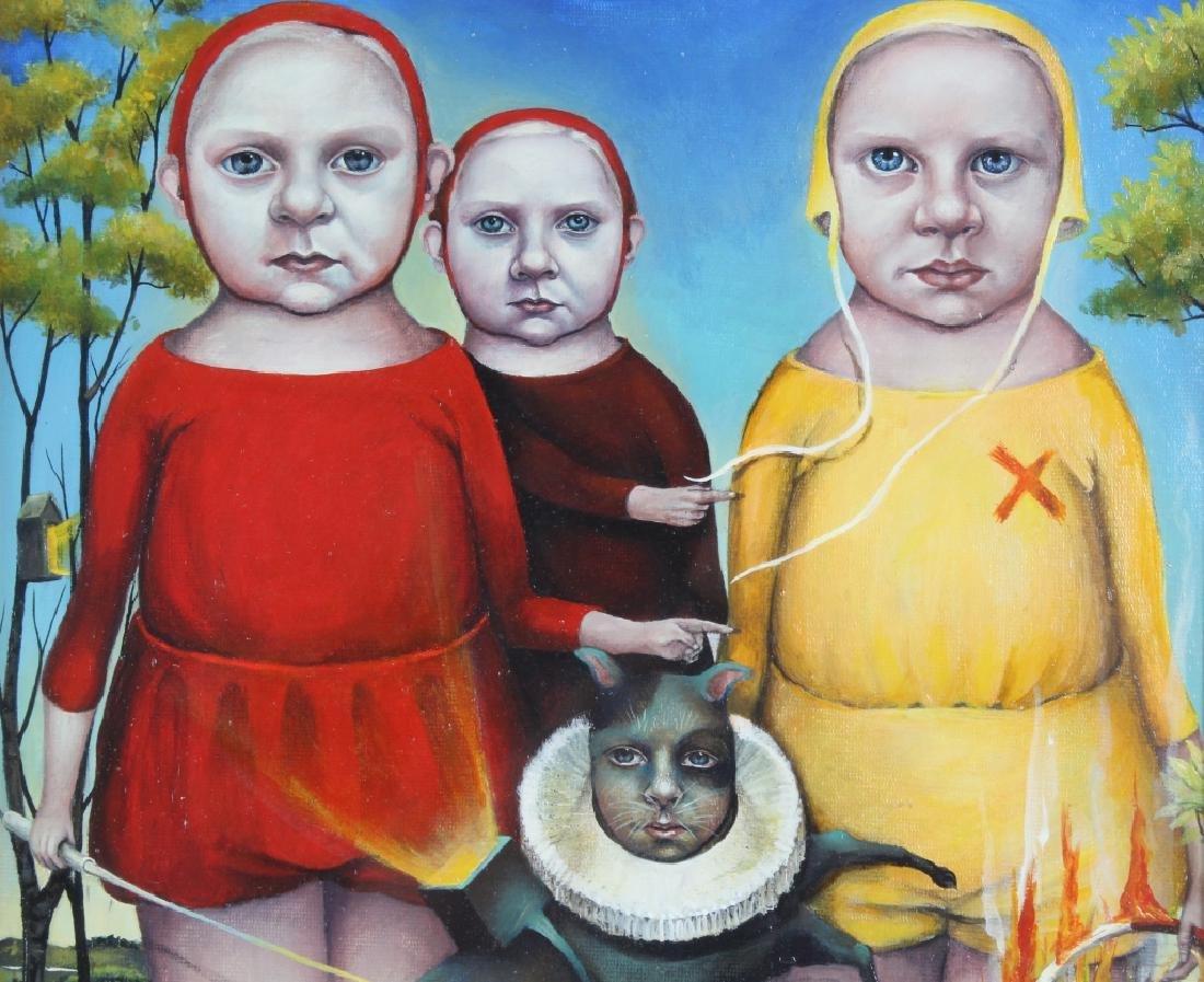 Heather Nevay Surrealist Art Oil Painting ORIGINAL - 3