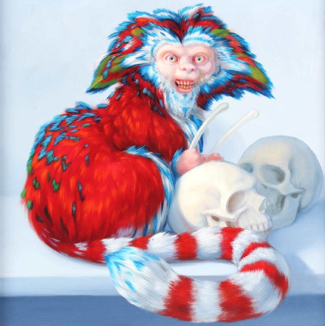 Laurie Hogin American Surreal Art Monkey Oil Painting