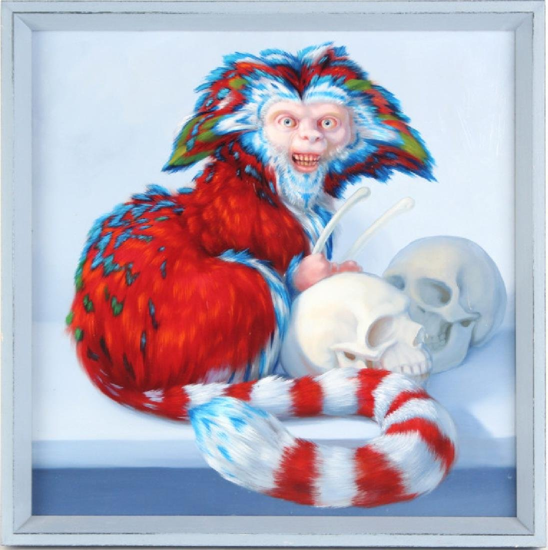 Laurie Hogin American Surreal Art Monkey Oil Painting - 2