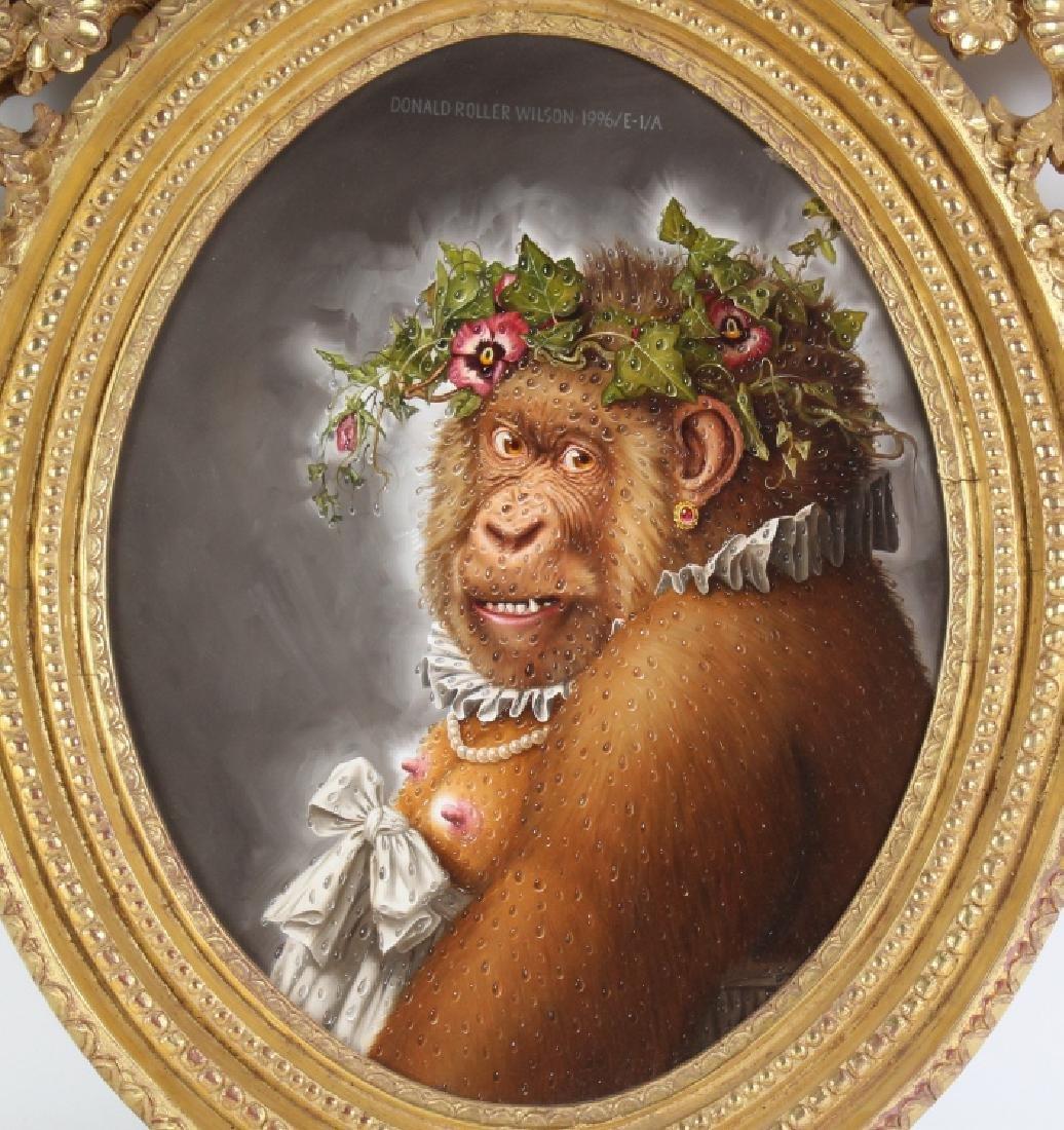Donald Roller Wilson b.1938 American Art Ape Painting - 2