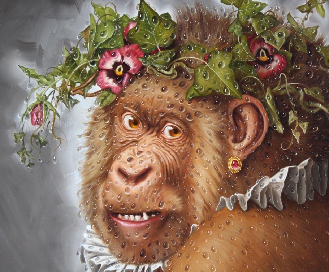 Donald Roller Wilson b.1938 American Art Ape Painting - 4