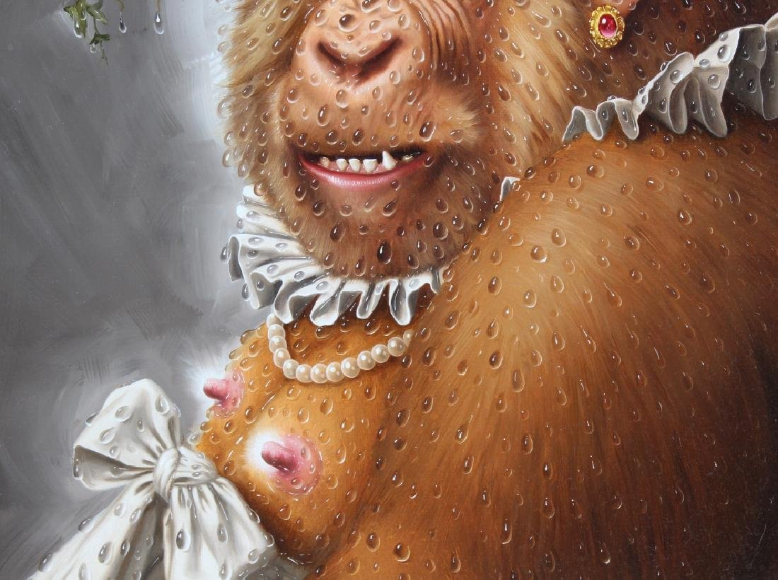 Donald Roller Wilson b.1938 American Art Ape Painting - 5