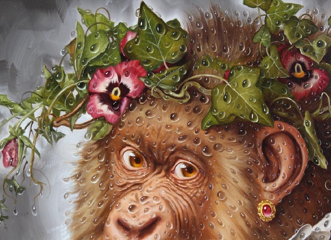 Donald Roller Wilson b.1938 American Art Ape Painting - 6