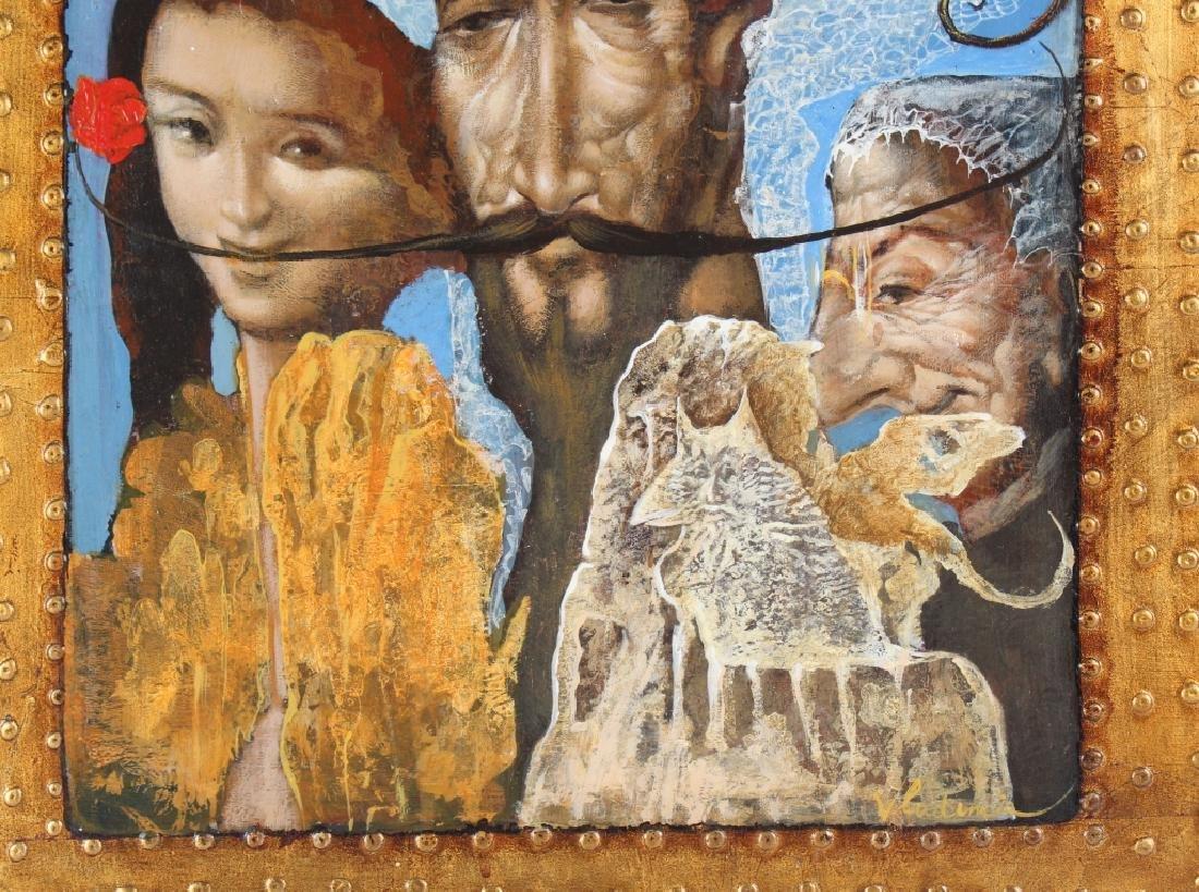 Vladimir Russian Surreal Art Portrait Oil Painting - 4