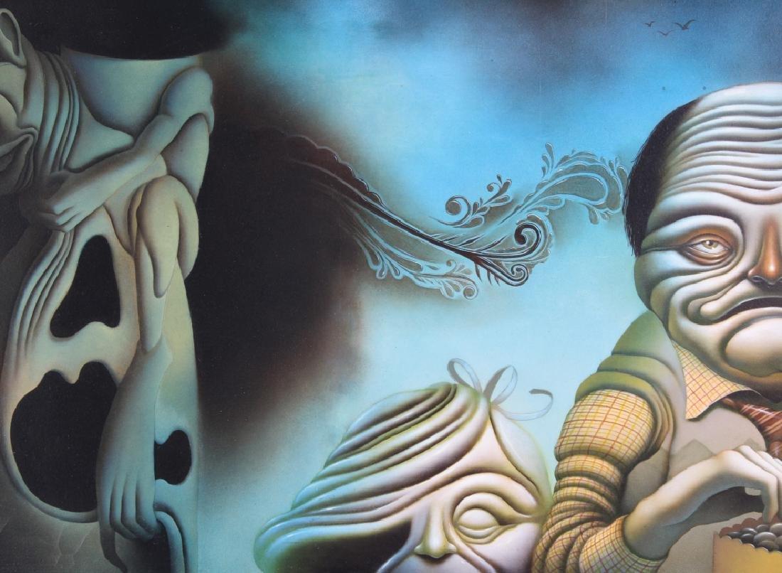 American Surrealist Figural Art Landscape Oil Painting - 2