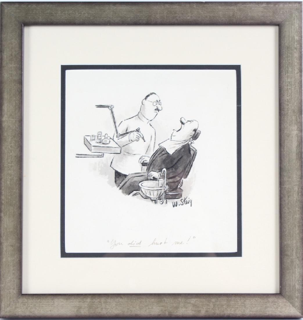 William Steig (1907-2003) American Cartoon Art Drawing