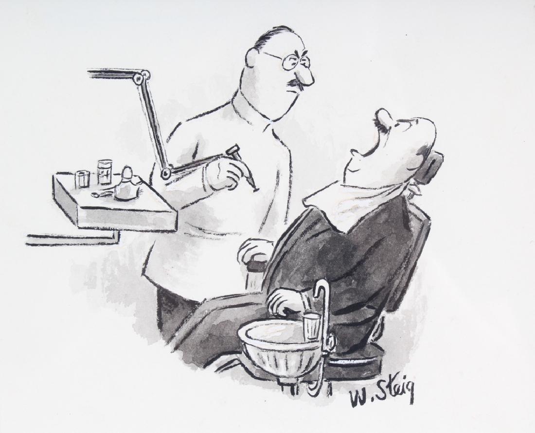 William Steig (1907-2003) American Cartoon Art Drawing - 3