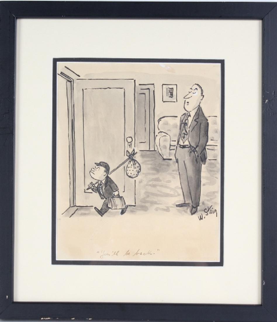 William Steig (1907-2003) American Cartoon Drawing