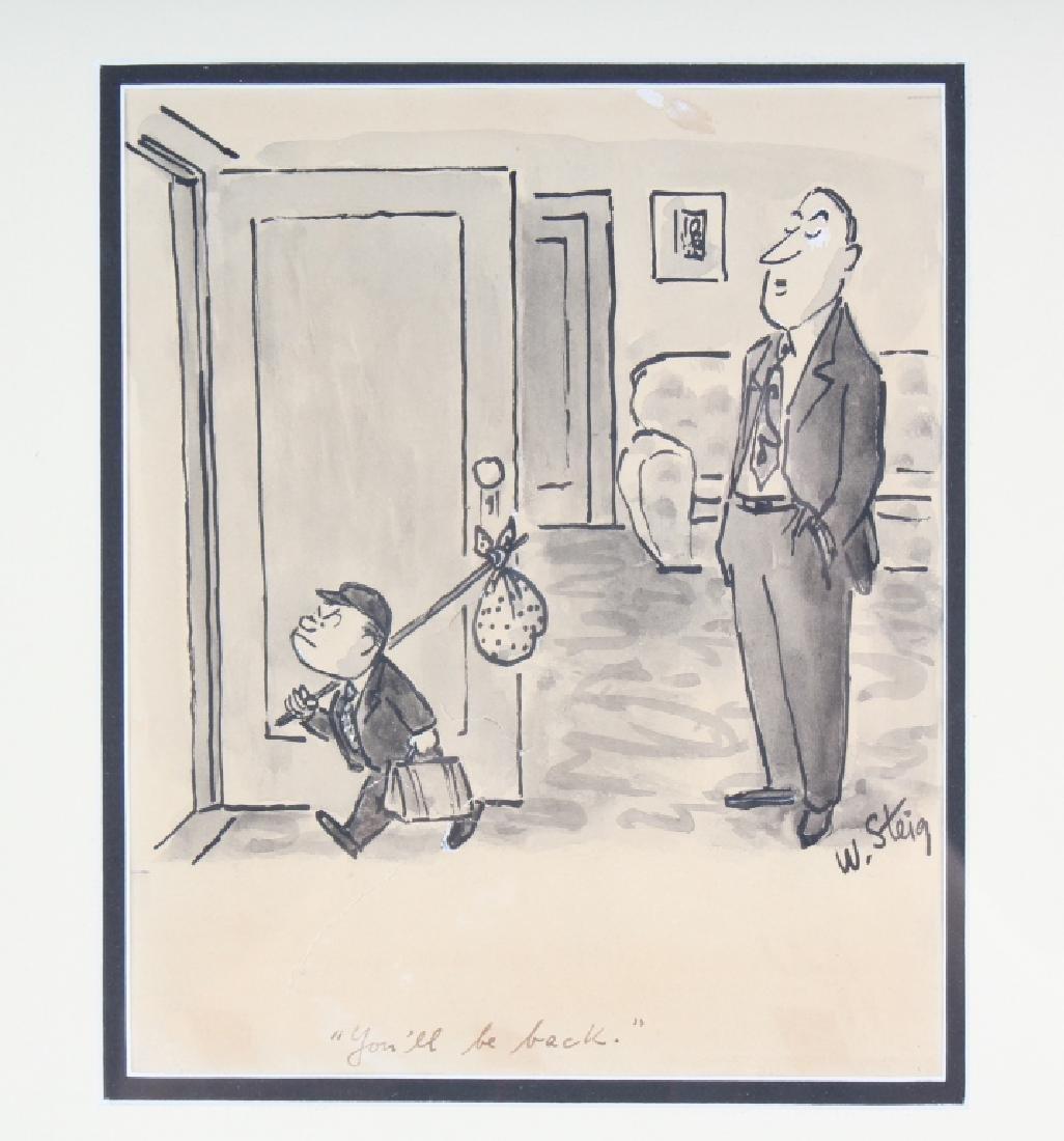 William Steig (1907-2003) American Cartoon Drawing - 2
