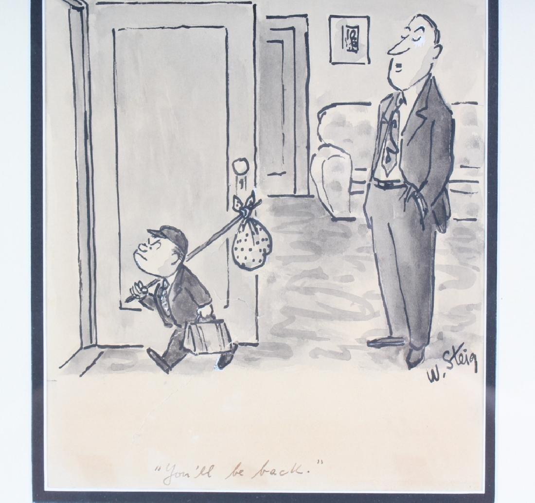 William Steig (1907-2003) American Cartoon Drawing - 3