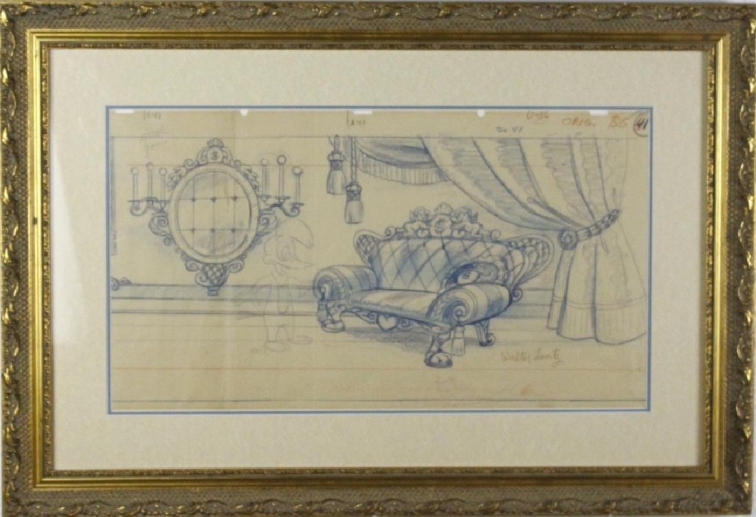 Walter Lantz Art Drawing Woody Woodpecker ORIGINAL