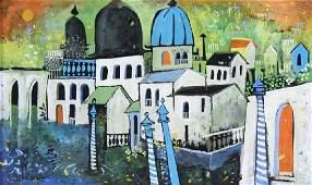 Henry Faulkner American Cityscape Art Oil Painting