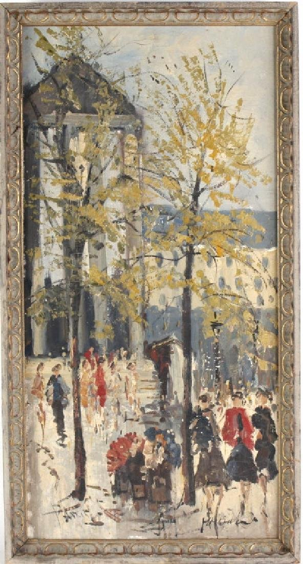 Impressionist Parisian Street Scene Oil Painting