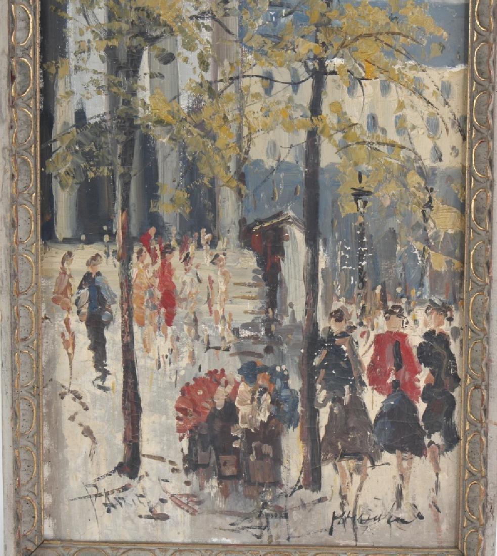 Impressionist Parisian Street Scene Oil Painting - 2