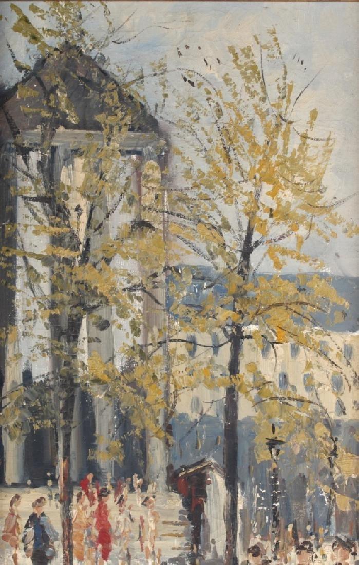 Impressionist Parisian Street Scene Oil Painting - 3