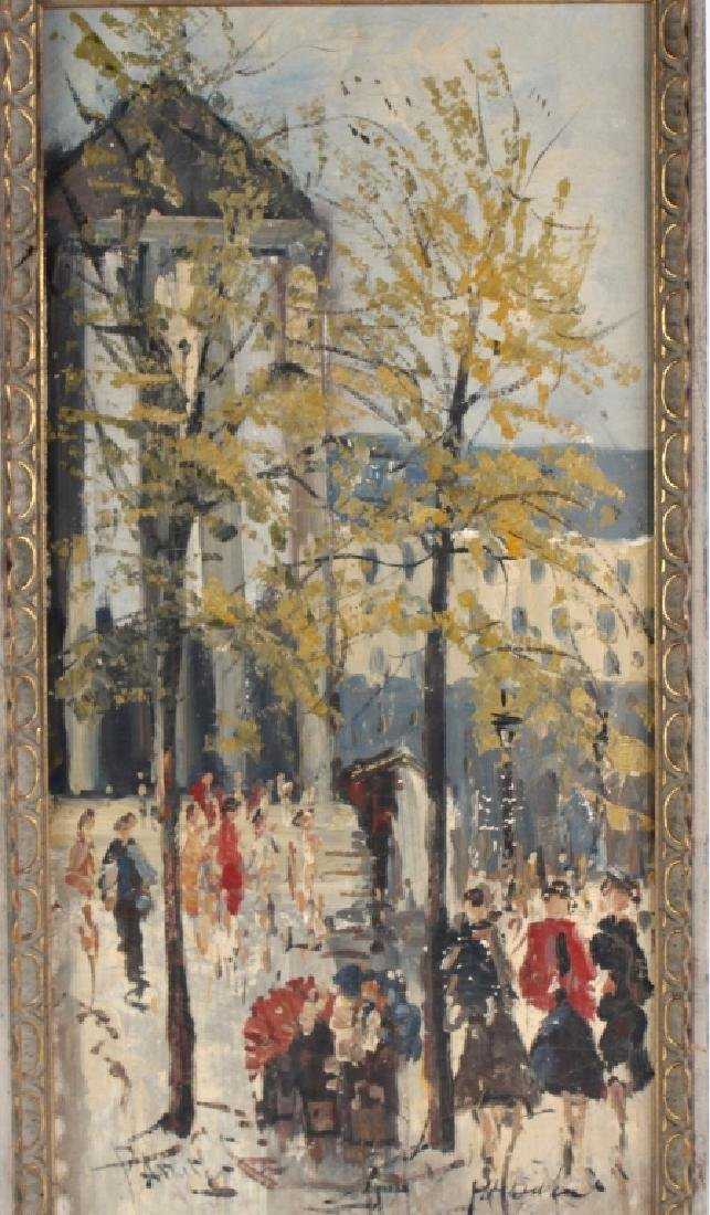 Impressionist Parisian Street Scene Oil Painting - 4