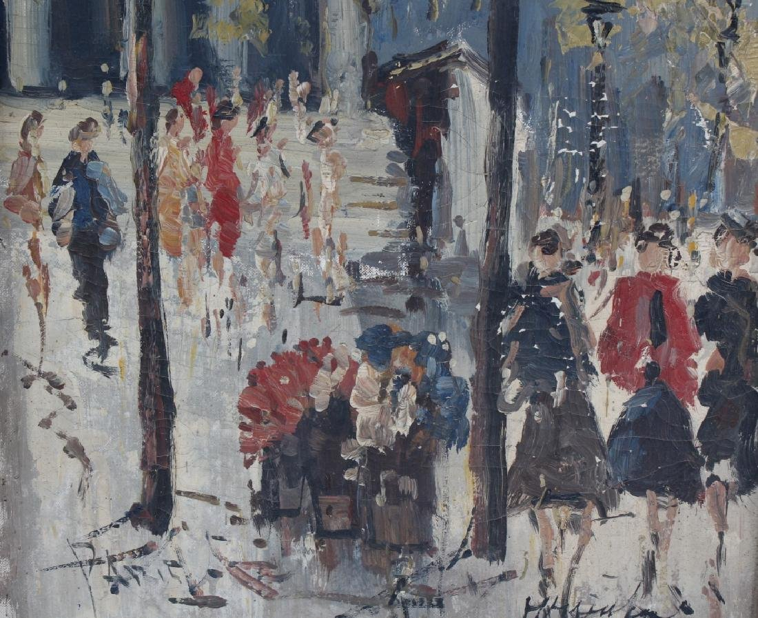 Impressionist Parisian Street Scene Oil Painting - 5
