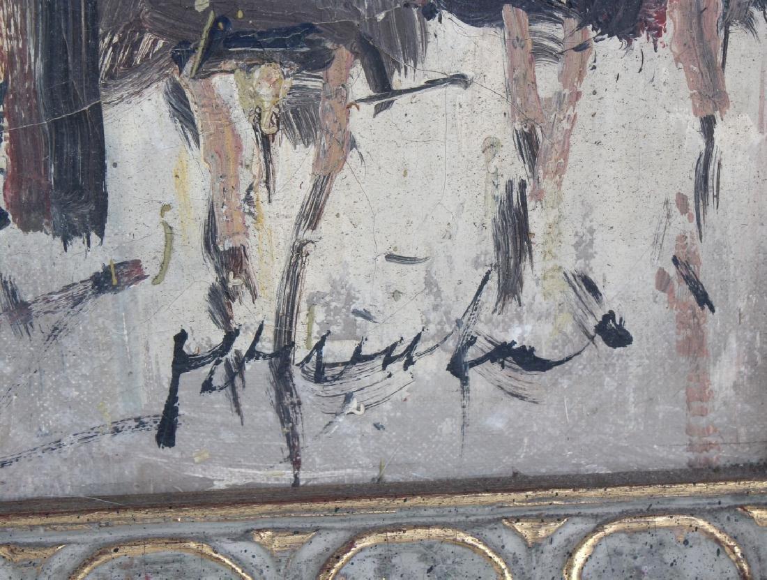 Impressionist Parisian Street Scene Oil Painting - 6