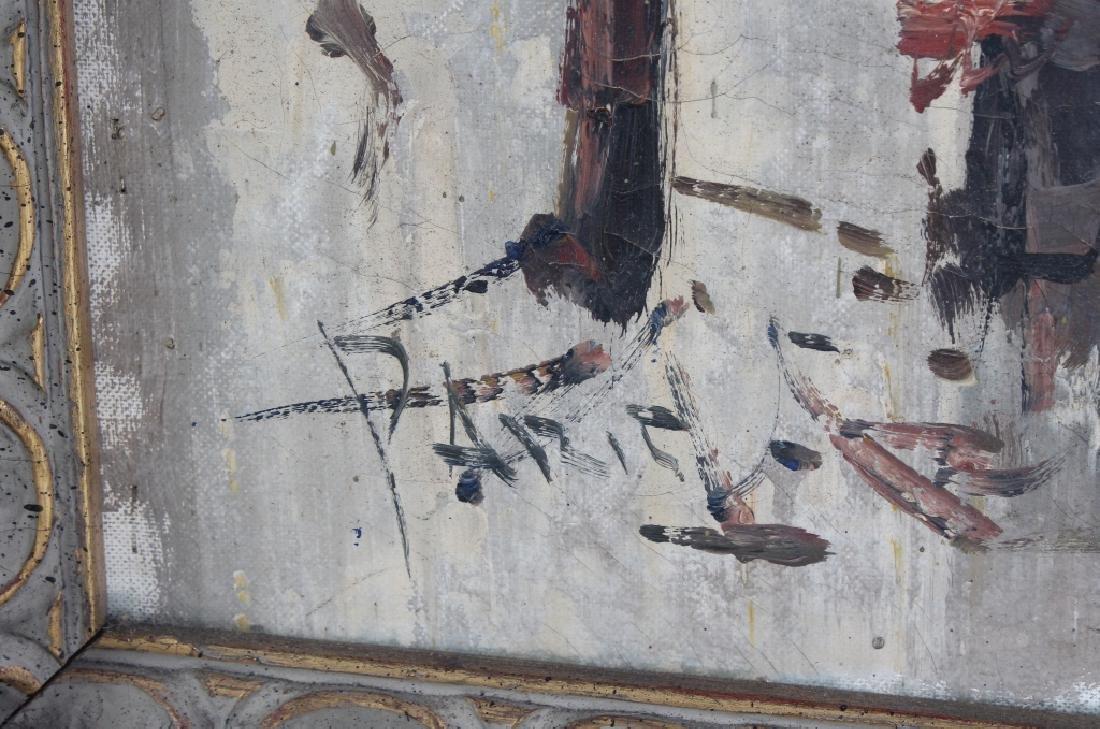 Impressionist Parisian Street Scene Oil Painting - 7