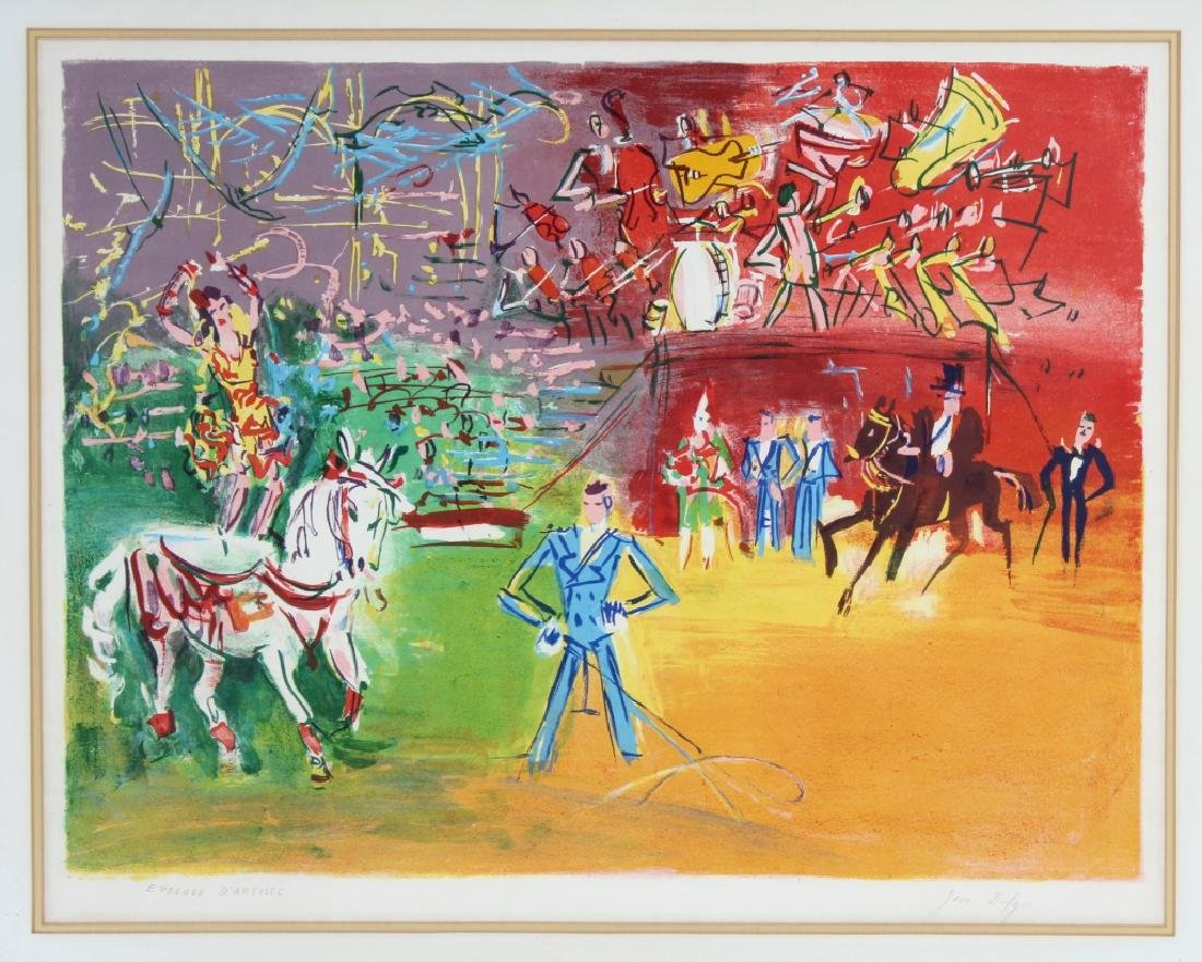 Jean Dufy LE CIRQUE Artist Proof Lithograph SIGNED
