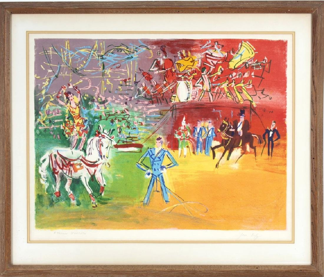 Jean Dufy LE CIRQUE Artist Proof Lithograph SIGNED - 2