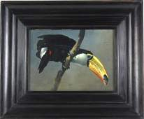 Raymond Harris Ching American Toucan Oil Painting